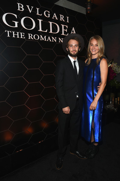 Bulgari Celebrates Launch of New Fragrance 'Goldea, The Roman Night' [goldea the roman night,formal wear,suit,fashion,event,tuxedo,dress,premiere,electric blue,night,fashion design,goldea,elizabeth gilpin,bulgari celebrates launch of new fragrance,fragrance,borough,brooklyn,bulgari,hopper penn,launch]