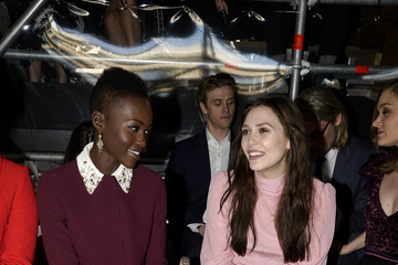 Elizabeth Olsen Front Row at the Miu Miu Show