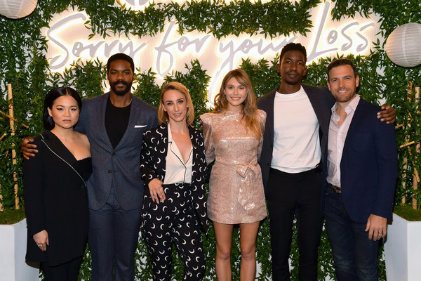 'Sorry For Your Loss' Season 2 Premiere Event [season,social group,event,fashion,formal wear,ceremony,party,suit,marriage,family,wedding,mamoudou athie,elizabeth olsen,kit steinkellner,jovan adepo,kelly marie tran,sorry for your loss,l-r,premiere event,premiere event]