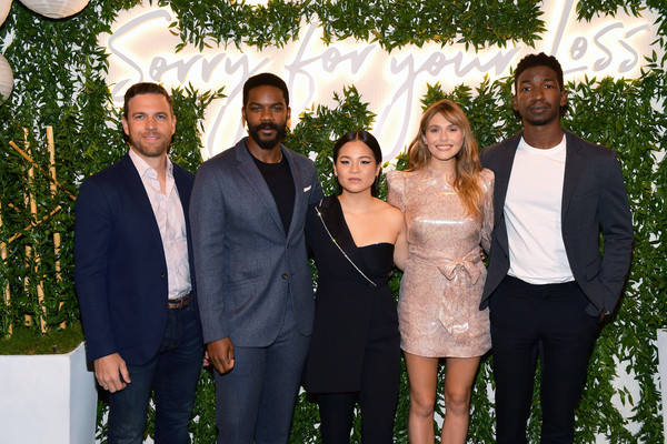 'Sorry For Your Loss' Season 2 Premiere Event [season,people,event,social group,ceremony,wedding,formal wear,marriage,suit,adaptation,smile,kelly marie tran,elizabeth olsen,zack robidas,jovan adepo,mamoudou athie,sorry for your loss,l-r,premiere event,premiere event]