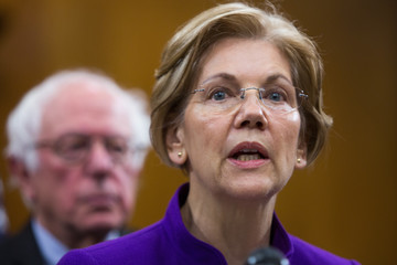 Elizabeth Warren Sens. Warren and Sanders Hold News Conference Calling for Increased Aid for Puerto Rico and U.S. Virgin Island