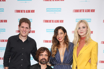 Elle Fanning Peter Dinklage XX At The New York Special Screening Of 'I Think We're Alone Now'