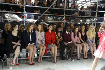 Elle Fanning Front Row at the Miu Miu Show