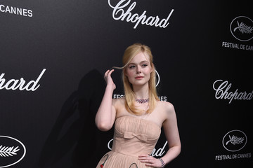 Elle Fanning Official Trophee Chopard Dinner - Photocall - The 72nd Cannes International Film Festival