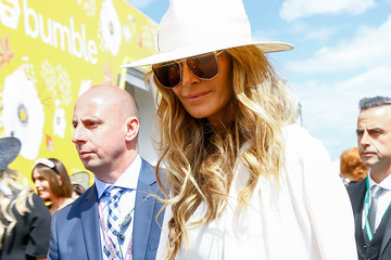 Elle MacPherson Celebrities Attend Derby Day