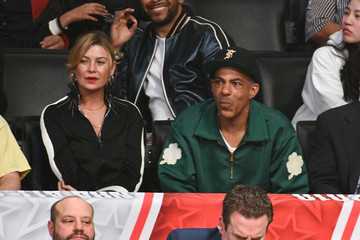 Ellen Pompeo Chris Ivery Celebrities At The 67th NBA All-Star Game: Team LeBron Vs. Team Stephen