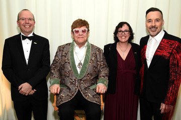 Elton John Col Needham 27th Annual Elton John AIDS Foundation Academy Awards Viewing Party Sponsored By IMDb And Neuro Drinks Celebrating EJAF And The 91st Academy Awards - Inside