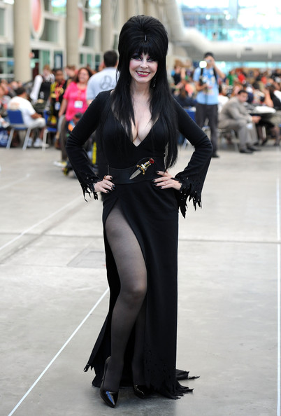 Elvira Mistress of the Dark Photo Op during Comic-Con 2011 on July 23