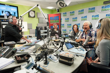 Elvis Duran Guy Fieri Visits a NYC Radio Show