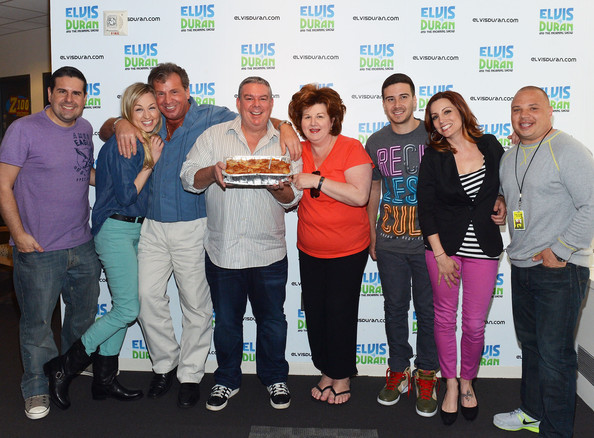 ... Z100 Morning Show crew pose for photo at Elvis Duran Z100 Morning Show