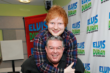 Elvis Duran Ed Sheeran and Siva Kaneswaran Visit a Radio Show