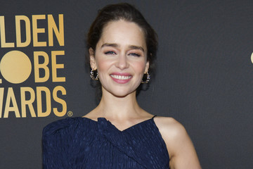 Emilia Clarke HFPA And THR Golden Globe Ambassador Party - Press Conference And Arrivals