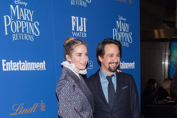 Emily Blunt Lin-manuel Miranda The Cinema Society's Screening Of 'Mary Poppins Returns' Co-Hosted By Lindt Chocolate