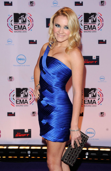 Emily Osment Actress Emily Osment attends the MTV Europe Awards 2010 at the La Caja Magica on November 7, 2010 in Madrid, Spain.