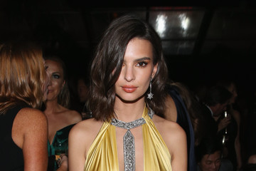 Emily Ratajkowski The Weinstein Company and Netflix Golden Globe Party, Presented With FIJI Water, Grey Goose Vodka, Lindt Chocolate, and Moroccanoil - Inside