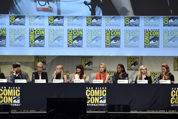 Emma Roberts Lea Michele The 'American Horror Story' And 'Scream Queens' Panel at Comic-Con International 2015