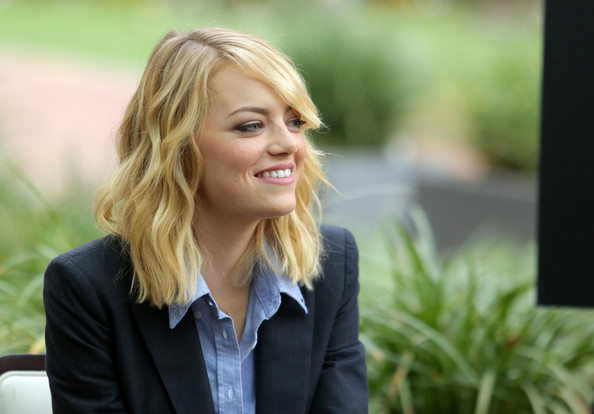 """""""The Amazing Spider-Man 2"""" Fan Event [the amazing spider-man 2,the amazing spiderman,hair,photograph,facial expression,blond,hairstyle,beauty,portrait,smile,long hair,photography,emma stone,culver city,california,sony pictures studios,fan event,fan event]"""