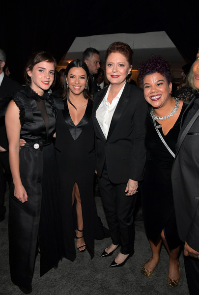 The 2018 InStyle and Warner Bros. 74th Annual Golden Globe Awards Post-Party - Inside [formal wear,event,fashion,suit,little black dress,tuxedo,dress,fun,smile,premiere,susan sarandon,rosa clemente,eva longoria,emma watson,post-party - inside,the beverly hilton hotel,beverly hills,instyle,warner bros. 74th annual golden globe awards,warner bros. 75th annual golden globe awards post-party]