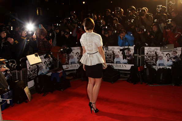 Emma Watson (UK TABLOID NEWSPAPERS OUT) Emma Watson attends the UK premiere of My Week with Marilyn at The Cineworld Haymarket on November 20, 2011 in London, United Kingdom.