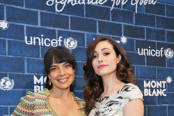 """Emmy Rossum Zuleikha Robinson Montblanc And UNICEF Celebrate The Launch Of Their New """"Signature For Good 2013"""" Initiative At A Pre-Oscar Charity Brunch With Special Guest Hilary Swank"""