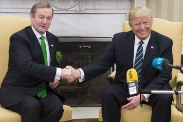 Enda Kenny Irish Prime Minister Edna Kenny Arrives to the White House to Meet With Trump