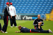 Andrew Flintoff and Andrew Strauss Photos Photo