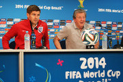 Steven Gerrard and Roy Hodgson Photos Photo
