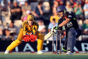 Tim Paine looks on as Luke Wright of England in action during the 1st NatWest One Day International between England and Australia played at the Rosebowl on June 22, 2010 in Southampton, England.
