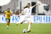 (CHINA OUT) Jill Scott #6 of England follows the ball in the match between England and Australia during the 2015 Yongchuan Women's Football International Matches at Yongchuan Sports Center on October 27, 2015 in Yongchuan, Chongqing of China.