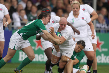 Tania Rosser England v Ireland - IRB Women's Rugby World Cup Matchday One