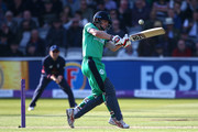 William Porterfield of Ireland hits out during the Royal London ODI between England and Ireland at Lord's Cricket Ground on May 7, 2017 in London, England.