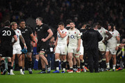 Owen Farrell and Mark Wilson of England look on following the Quilter International match between England and New Zealand at Twickenham Stadium on November 10, 2018 in London, United Kingdom.