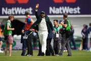 Pakistan captain Sarfraz Ahmed gives a wave before day one of the second Test Match between England and Pakistan at Headingley on June 1, 2018 in Leeds, England.
