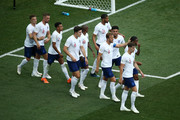 Harry Kane of England celebrates with teammates after scoring a penalty for his team's fifth goal during the 2018 FIFA World Cup Russia group G match between England and Panama at Nizhny Novgorod Stadium on June 24, 2018 in Nizhny Novgorod, Russia.
