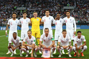 England pose gfor a team photo prior to the 2018 FIFA World Cup Russia Semi Final match between England and Croatia at Luzhniki Stadium on July 11, 2018 in Moscow, Russia.