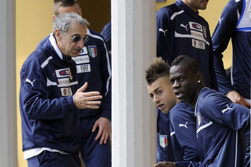 Enrico Castellacci Stephan El Shaarawy Italy Training Session & Press Conference