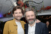 "David Tennant and Michael Sheen attend Entertainment Weekly + Amazon Prime Video's ""Saints & Sinners"" Party At SXSW on March 9, 2019 in Austin, Texas."