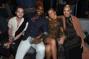 (L-R) Alexander Calvert, Mehcad Brooks, guest, and Hannah Fraser attend Entertainment Weekly's Comic-Con Bash held at FLOAT, Hard Rock Hotel San Diego on July 20, 2019 in San Diego, California sponsored by HBO.
