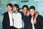 (L-R) Actors Thomas Brodie-Sangster, Dylan O'Brien, Tyler Posey and Cody Christian attend Entertainment Weekly's Comic-Con 2015 Party sponsored by HBO, Honda, Bud Light Lime and Bud Light Ritas at FLOAT at The Hard Rock Hotel on July 11, 2015 in San Diego, California.