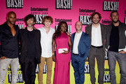 (L-R)  Actor Ricky Whittle, writer Neil Gaiman, actors Bruce Langley, Yetide Badaki, writers Michael Green, Bryan Fuller and actor Pablo Schreiberattends Entertainment Weekly's Comic-Con Bash held at Float, Hard Rock Hotel San Diego on July 23, 2016 in San Diego, California sponsored by HBO.