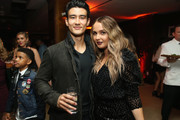 Alex Landi and Camilla Luddington attend the 2018 Pre-Emmy Party hosted by Entertainment Weekly and L'Oreal Paris at Sunset Tower on September 15, 2018 in Los Angeles, California.