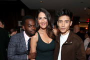 (L-R) William Jackson Harper, D'Arcy Carden, and Manny Jacinto attend the 2019 Pre-Emmy Party hosted by Entertainment Weekly and L'Oreal Paris at Sunset Tower Hotel in Los Angeles on Friday, September 20, 2019.