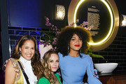 Jaina Lee Ortiz, Danielle Savre and Barrett Doss attend the Entertainment Weekly & PEOPLE New York Upfronts Party on May 13, 2019 in New York City.