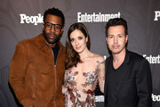 (L-R) Laroyce Hawkins,  Marina Squerciati and Jon Seda of Chicago PD attend Entertainment Weekly & PEOPLE New York Upfronts celebration at The Bowery Hotel on May 14, 2018 in New York City.