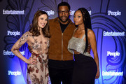 (L-R) Marina Squerciati, Laroyce Hawkins and Yaya DaCosta attend Entertainment Weekly & PEOPLE New York Upfronts celebration at The Bowery Hotel on May 14, 2018 in New York City.