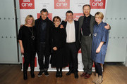 """Sue Vertue, Rupert Graves, Una Stubbs, Steven Moffat, Mark Gatiss and Sian Brooke attend episode three preview screening of """"Sherlock"""" at BFI Southbank on January 12, 2017 in London, England."""