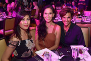 (L-R) Rain Valdez, Lee Faelnar Te and Alexandra Billings attend Equality California's Special 20th Anniversary Los Angeles Equality Awards at the JW Marriott Los Angeles at L.A. LIVE on September 28, 2019 in Los Angeles, California.