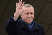 "Turkish President Tayyip Erdogan greet supporters at Ankara Esenboga Airport on April 17, 2017 in Ankara Turkey. Erdogan declared victory in Sunday's historic referendum that will grant sweeping powers to the presidency, hailing the result as a ""historic decision. 51.4 per cent per cent of voters had sided with the ""Yes"" campaign, ushering in the most radical change to the country's political system in modern times.Turkey's main opposition calls on top election board to annul the referendum. OSCE observers said that a Turkish electoral board decision to allow as valid ballots that did not bear official stamps undermined important safeguards against fraud."