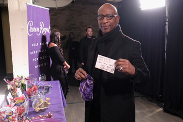 Eric Dickerson Crown Royal Packs Bags for Troops at The Rolling Stone Party