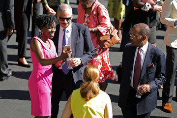 Eric Holder Obama Hosts a Reception for the Nat'l Museum of African American History and Culture